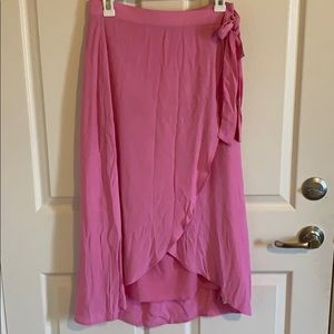 American Eagle Pink High Low Skirt